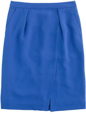 J.Crew Drapey crepe pencil skirt