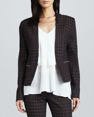 Yigal Azrouel Cut25 by Houndstooth Twill Jacket