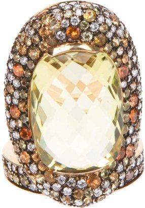 Paolo Piovan diamond encrusted ring