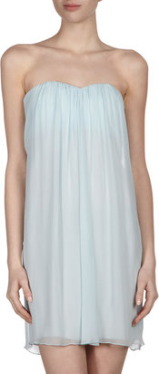 Alice + Olivia Pleat-Center Strapless Dress, Blue