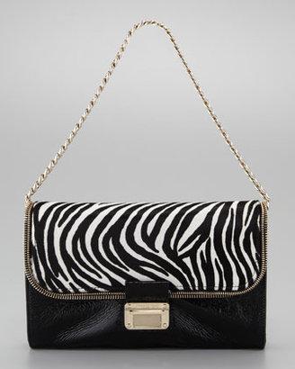 Jimmy Choo Mini Lou Zebra-Print Shoulder Bag