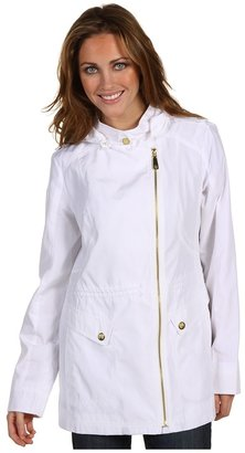 Vince Camuto Hooded Zip Anorak (White) - Apparel