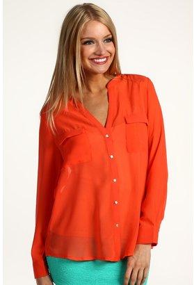 Type Z Dakota Blouse (Orange) - Apparel