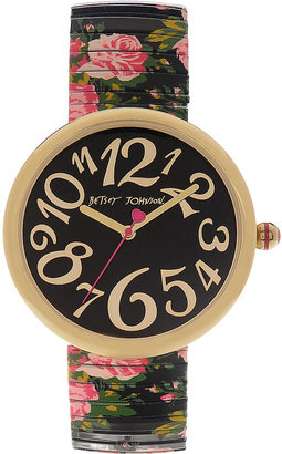 Betsey Johnson Oversized Floral Watch
