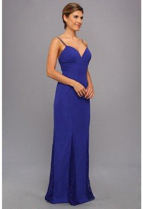 Faviana Lace Godet Chiffon Gown 7362