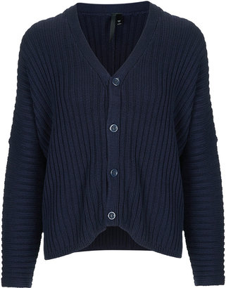 Boutique Chunky Knit Rib Cardigan