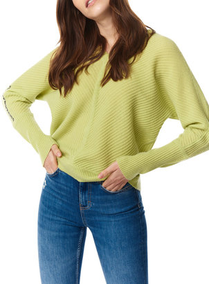 LISA TODD The Stitch Ribbed V-Neck Sweater