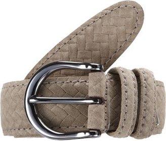 Barneys New York Suede Woven Belt
