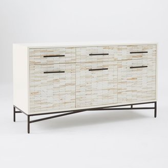 west elm Wood Tiled Media Console
