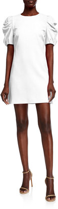Alice + Olivia Hanita Short Puff-Sleeve Shift Dress
