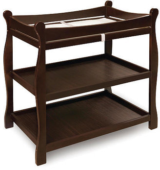 Badger Basket Company Sleigh Style Changing Table - Espresso