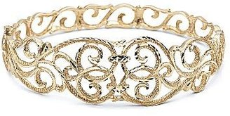 JCPenney 14K over Silver Floral Bangle
