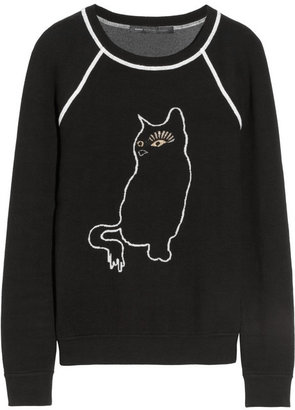 Marc by Marc Jacobs Rue cat-intarsia cotton-blend sweatshirt