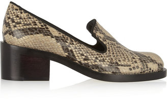 Stella McCartney Snake-Effect Faux Leather Loafers