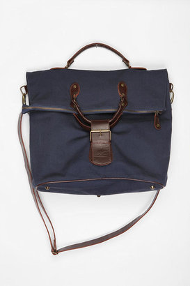 BDG Canvas and Leather Foldover Tote