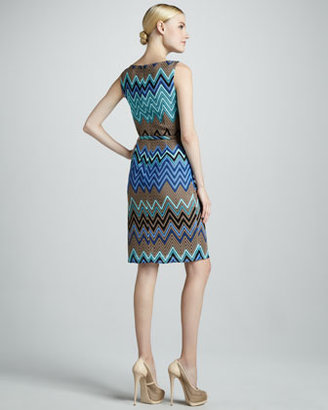 David Meister Zigzag Printed Dress