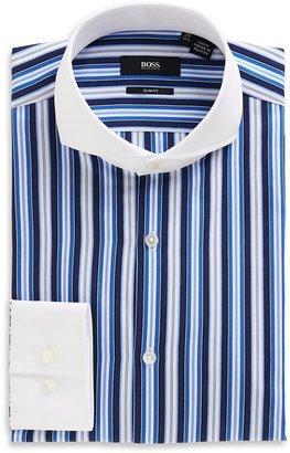 HUGO BOSS 'Johan' | Slim Fit, Extreme Spread Contrast Collar Cotton Dress Shirt by BOSS