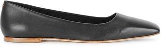 AEYDĒ Gina Black Leather Flats