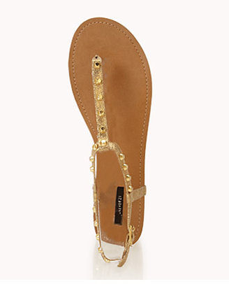 Forever 21 Edgy Studded Thong Sandals