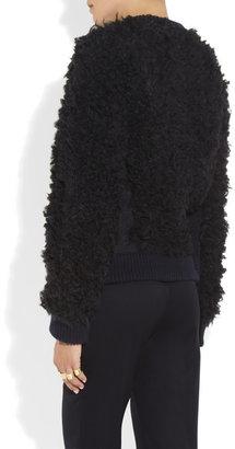 Stella McCartney Shearling-effect knitted sweater