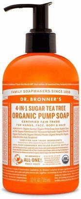 Dr. Bronner's Sugar Tea Tree Organic Pump Soap by 12oz Liquid Soap)