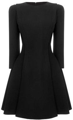 Alexander McQueen Broad Pleat A-Line Dress