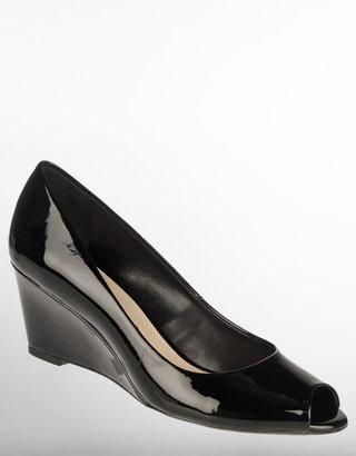 Franco Sarto Vaya Peep-Toe Patent Wedges