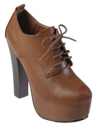 Journee Collection Women's Lace-up Platform Ankle Bootie