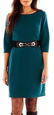 JCPenney Alyx® Spliced Belted Dress - Petite