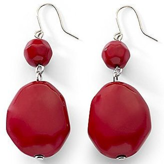 JCPenney east 5th® Red Nugget Double Drop Earrings