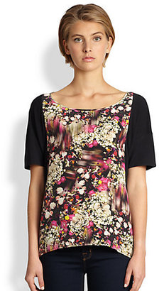 Rebecca Minkoff Nico Silk-Panel Top