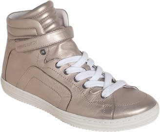 Pierre Hardy Metallic High Top Sneaker Sale up to 60% off at Barneyswarehouse.com