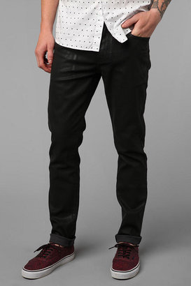 Urban Outfitters Standard Cloth Jet Black Coated Super Skinny Jean