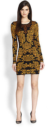 Torn By Ronny Kobo Floral-Patterned Body-Con Sweater Dress
