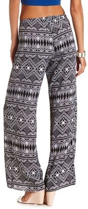 Charlotte Russe Printed Woven Palazzo Pant