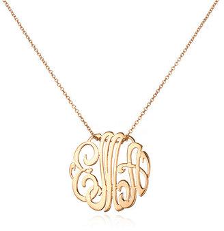 ginette_ny Mini Lace Monogram Necklace, Rose Gold