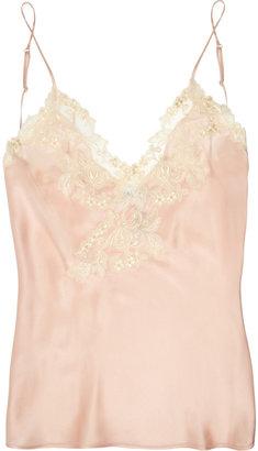 La Perla Maison lace-trimmed silk-blend satin camisole