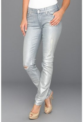 7 For All Mankind Slim Cigarette Jean in Pearlized Blue Star (Pearlized Blue Star) - Apparel