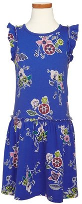 Tea Collection 'Majorelle Garden' Flutter Dress (Toddler Girls, Little Girls & Big Girls)