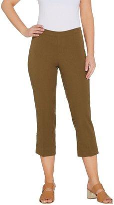 Isaac Mizrahi Live! 24/7 Stretch Regular Pull-On Crop Pants