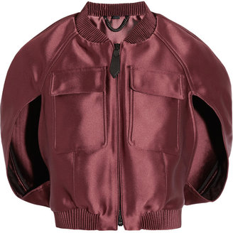 Burberry Cropped satin bomber jacket
