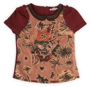 Scotch R'Belle Embroidered Flower Applique Top