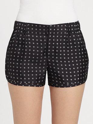 Thakoon Polka-Silk Mini Shorts