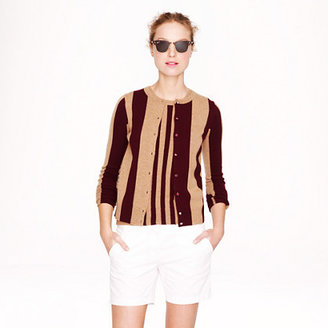 J.Crew Collection cashmere cardigan in wide stripe