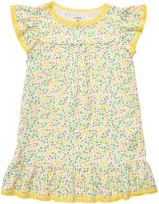 Carter's Nightgown - Yellow Ditsy Floral-X-Small