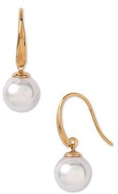 Women's Majorica 10Mm Pearl Drop Earrings $80 thestylecure.com