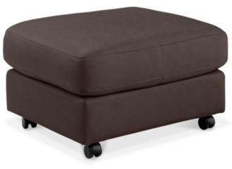 Blair Leather Ottoman