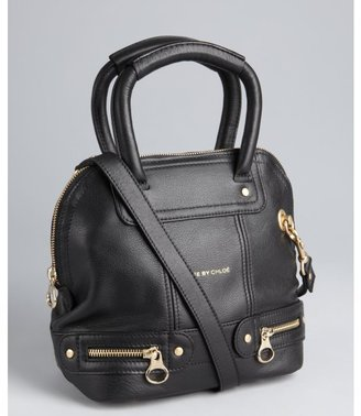 See by Chloe black leather small convertible tote