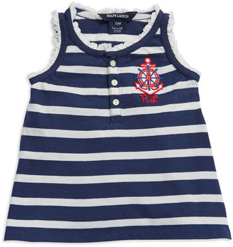 Ralph Lauren Baby Girls Striped Tank