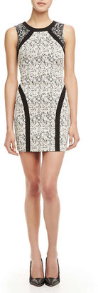 Parker Jagger Fitted Printed Dress